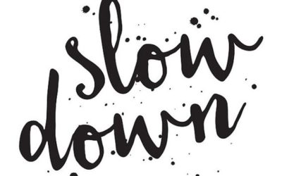 Mindfully slowing things down